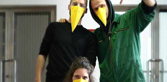 Die Kaltnadel-Crew im Wiener Funkhaus zu Gast